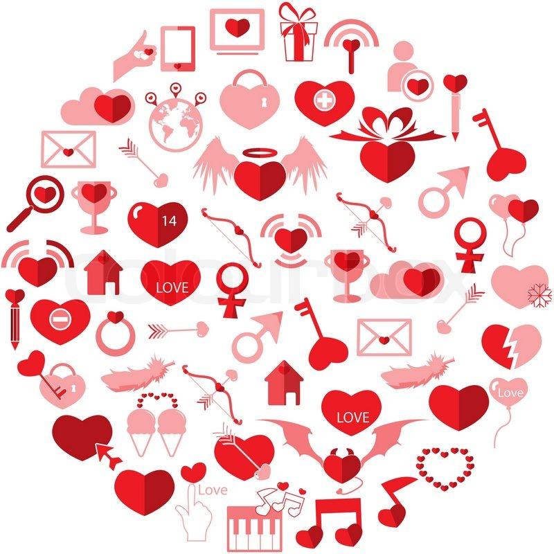 Template Circle Valentine S Day Love Icon Stock Vector Colourbox