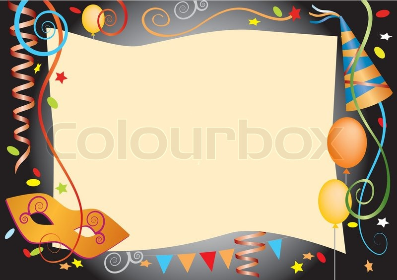 Vector colorful background for carnival and party invitation cards vector colorful background for carnival and party invitation cards with colored carnival design elements stock vector colourbox stopboris Image collections