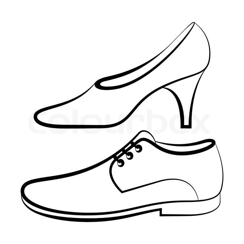 women u0026 39 s and men u0026 39 s shoe isolated on