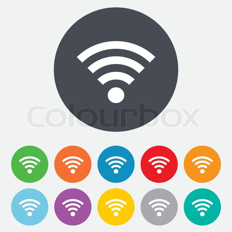 WiFi Zeichen. Wi-Fi-Symbol. Wireless-Netzwerk.   Vektorgrafik ...