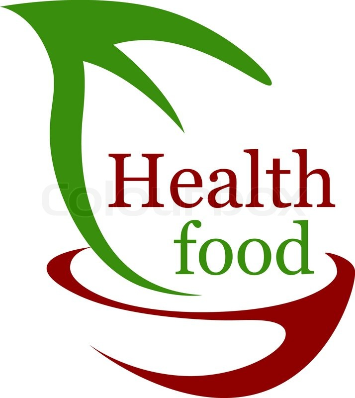 Health Vegetarian Food Icon With A Stock Vector Colourbox