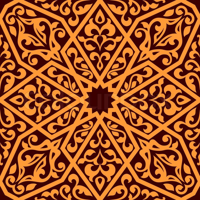 arabian tile pattern in square format suitable as a seamless repeat