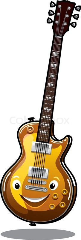 Cartoon e-Gitarre | Vektorgrafik | Colourbox