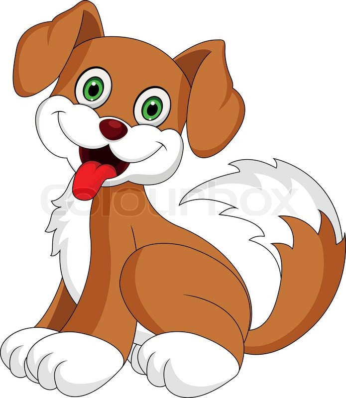 cute puppy cartoon stock vector colourbox rh colourbox com cartoon puppy images to draw cartoon puppy pictures free