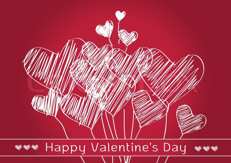 Valentines Day Heart Background Design Stock Vector Colourbox