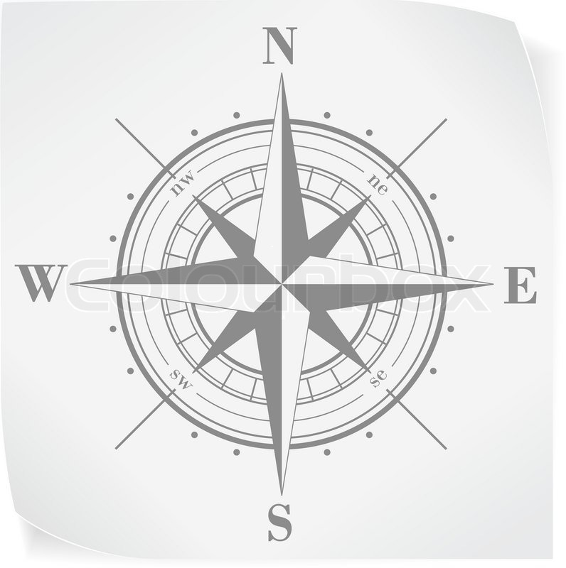 Kompassrose ber whitepaper aufkleber isoliert auf weiss for Bootsaufkleber design