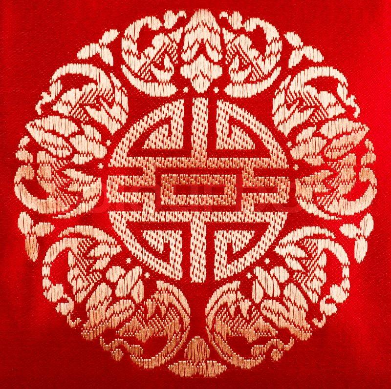 Chinese Fabric Pattern Stock Photo Colourbox Impressive Chinese Fabric Patterns