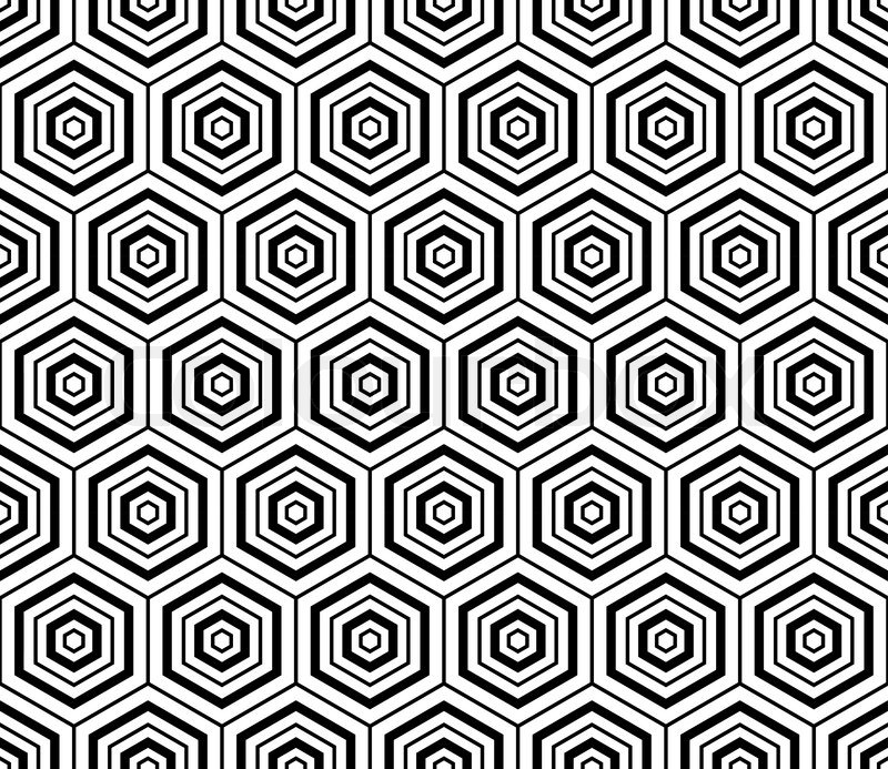 Hexagons Texture Seamless Geometric Pattern Vector Art