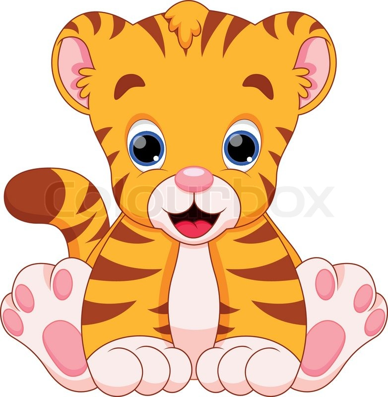 Tiger Baby Are Cute And Adorable Stock Vector Colourbox