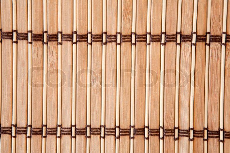 Tischdecke Vertikale Bambus Latten Stockfoto Colourbox
