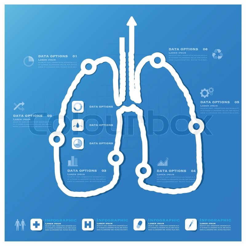 lung shape business and medical infographic design template, Powerpoint templates