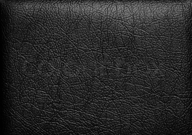 Closeup of seamless black leather texture : Stock Photo : Colourbox