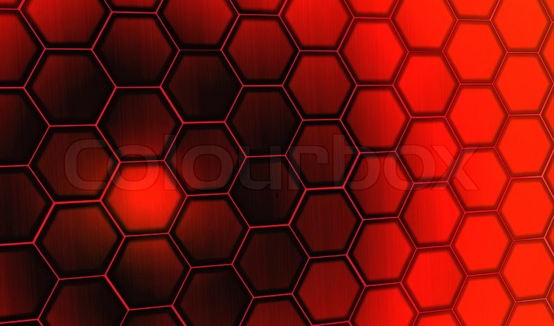 Red hexagon pattern wallpaper
