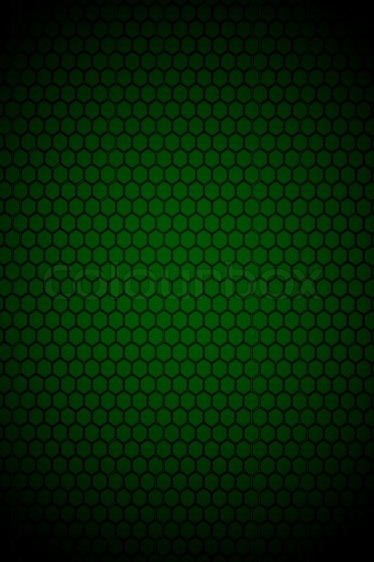 Dark Green Hexagon Steel Texture Background Stock Photo