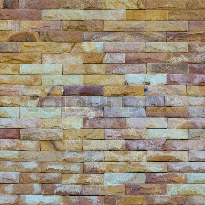 Pattern Of Decorative Slate Stone Wall Surface Stock