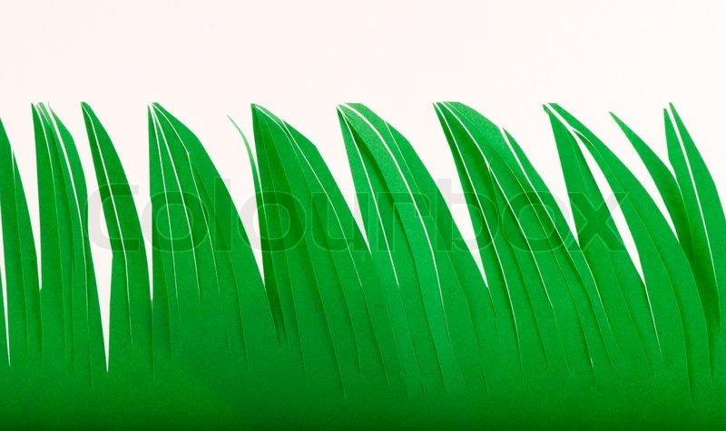 Трава из бумаги