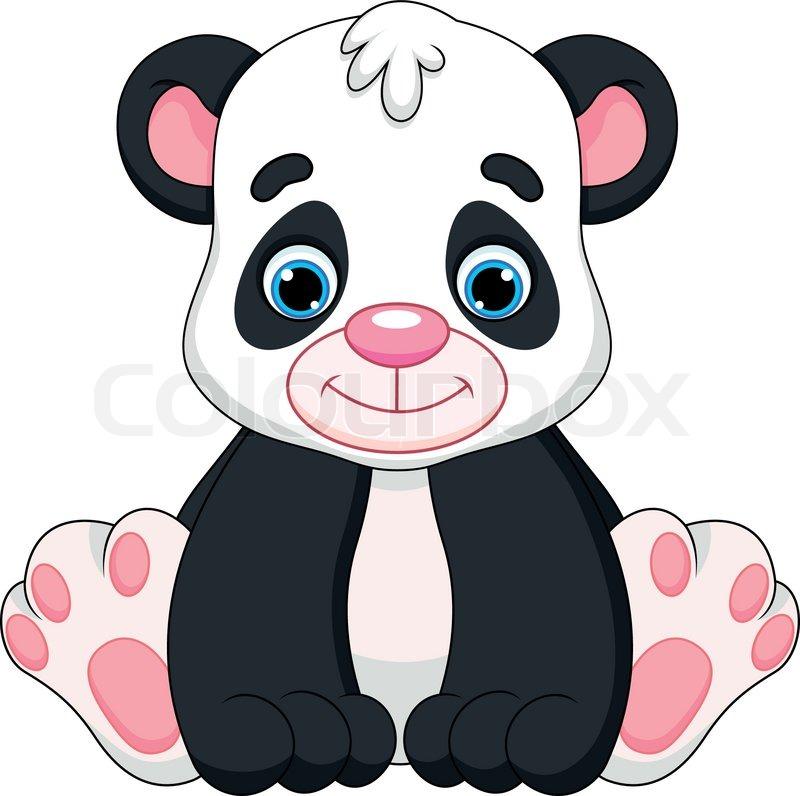 Illustration Of Cute Panda Baby Stock Vector Colourbox