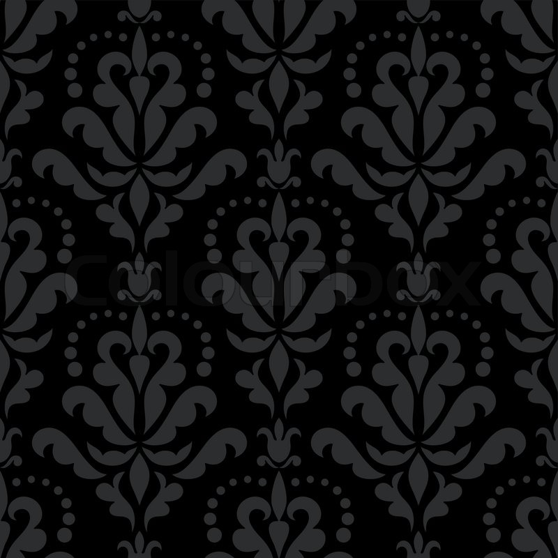 Schwarze Tapete Ohne Muster : Old English Damask Pattern Vector