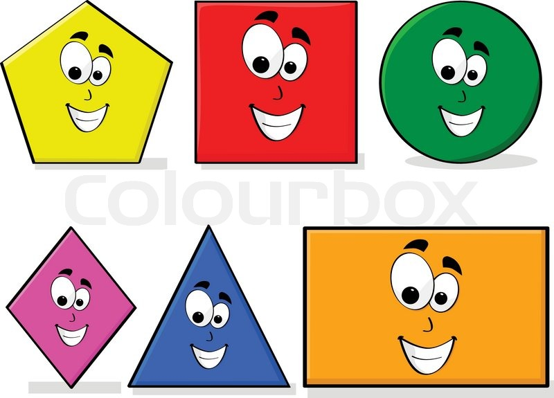 Learning Shapes Vector 8905756 on Colors And Shapes For Toddlers