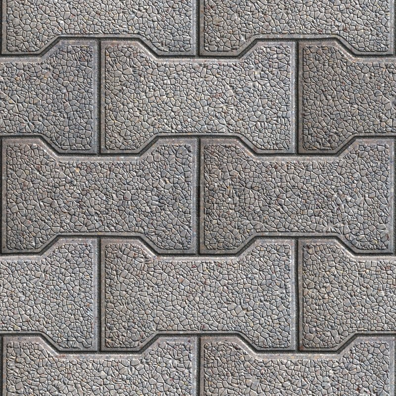 Gray Figured Paving Slabs Seamless Tileable Texture