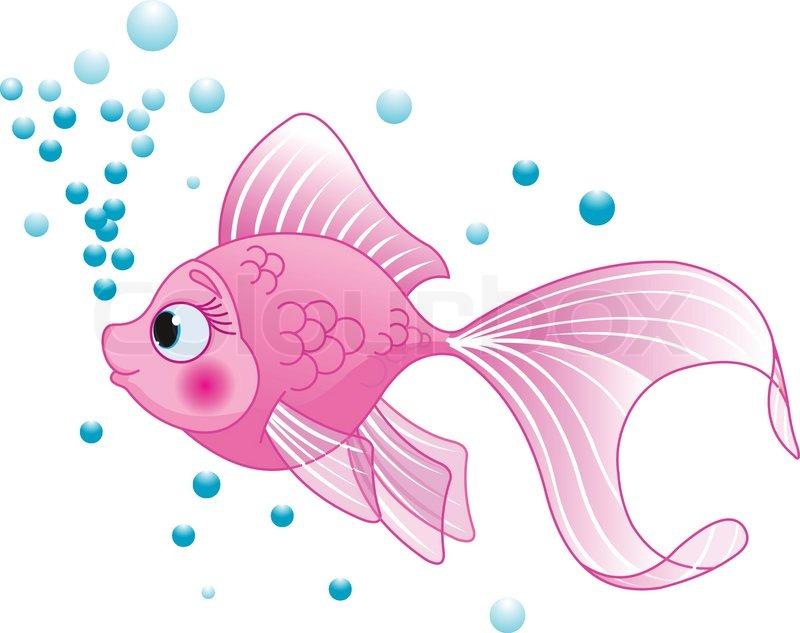 Cute Fisch   Vektorgrafik   Colourbox