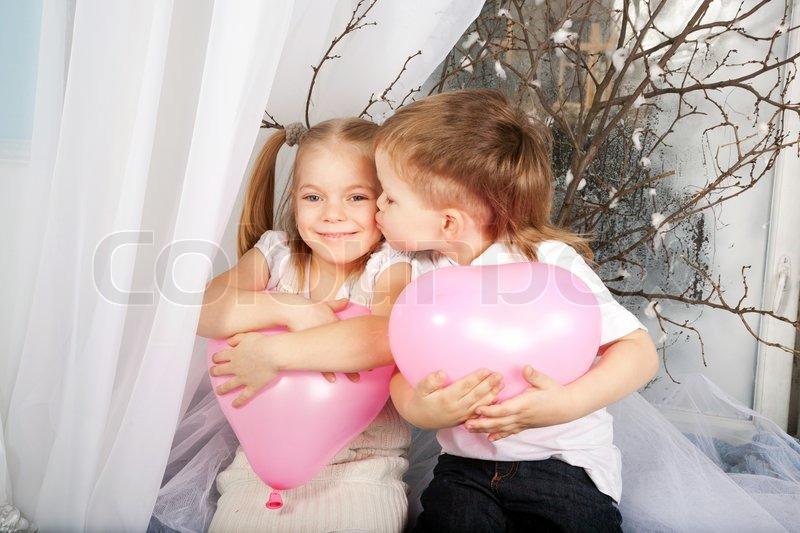 Kids hugging pictures