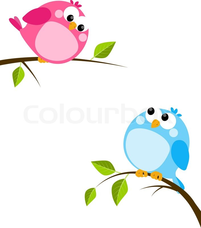 cute birds on spring branches stock vector colourbox rh colourbox com spring vector art spring vector free download