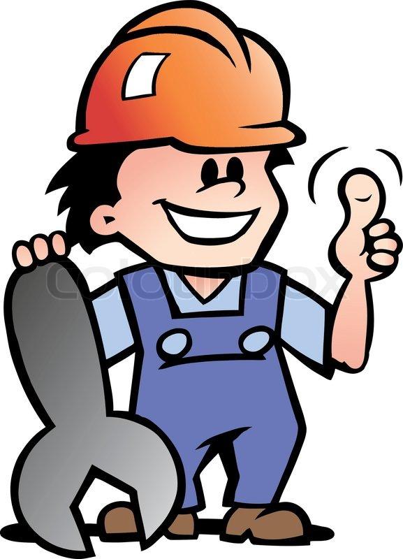 Handwerker clipart kostenlos  Baumeister, person, weiß | Vektorgrafik | Colourbox