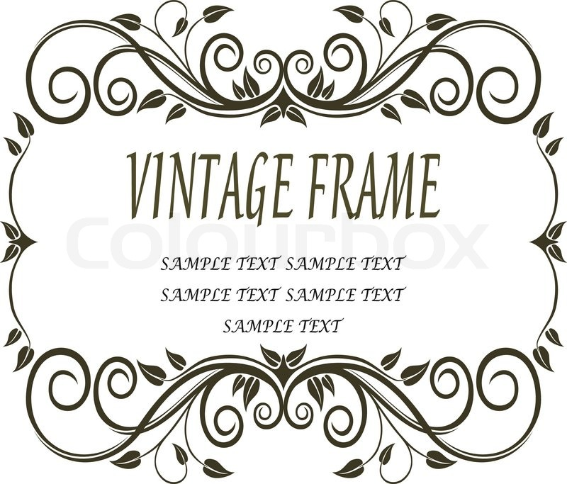 Vintage rahmen mit schn rkel und verzierungen vektorgrafik colourbox - Vintage bilder kostenlos ...