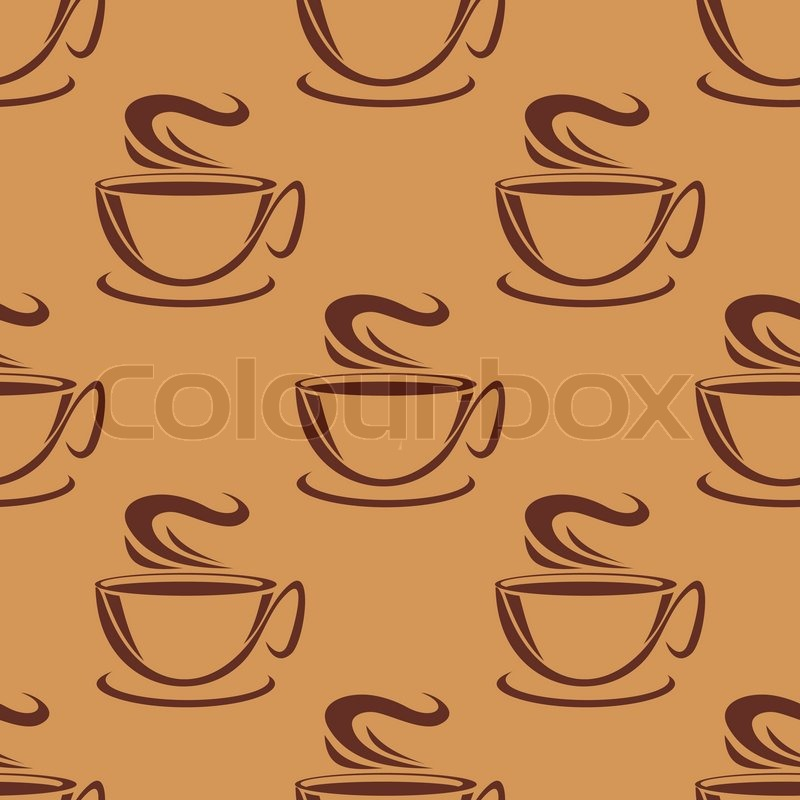 seamless doodle coffee pattern - photo #34