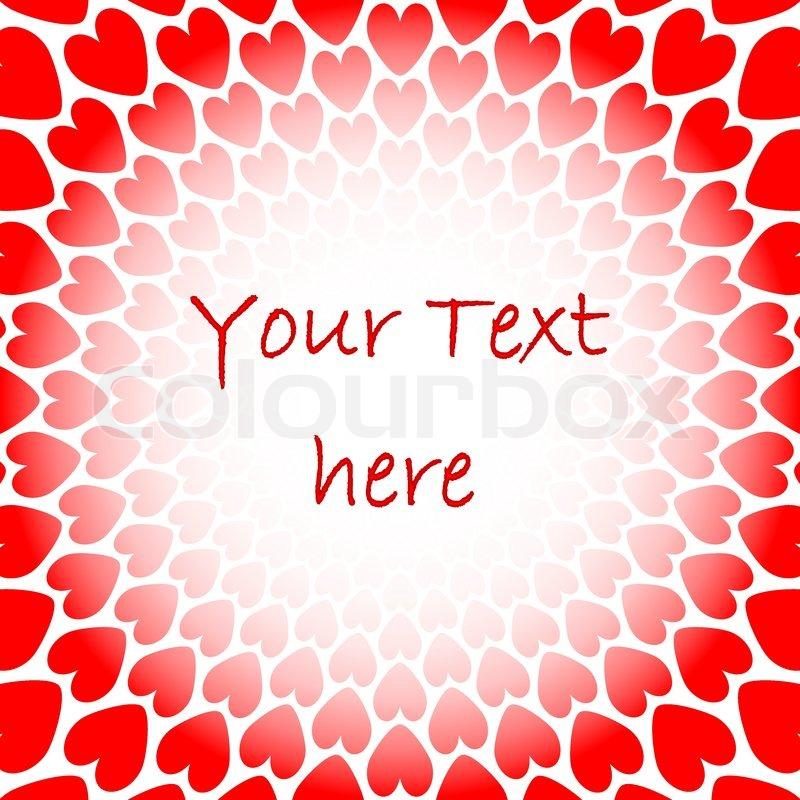 Rotes Herz Perspektive Hintergrund Für Text Zu Entwerfen. Valentinstag Karte,  Stock Vektor