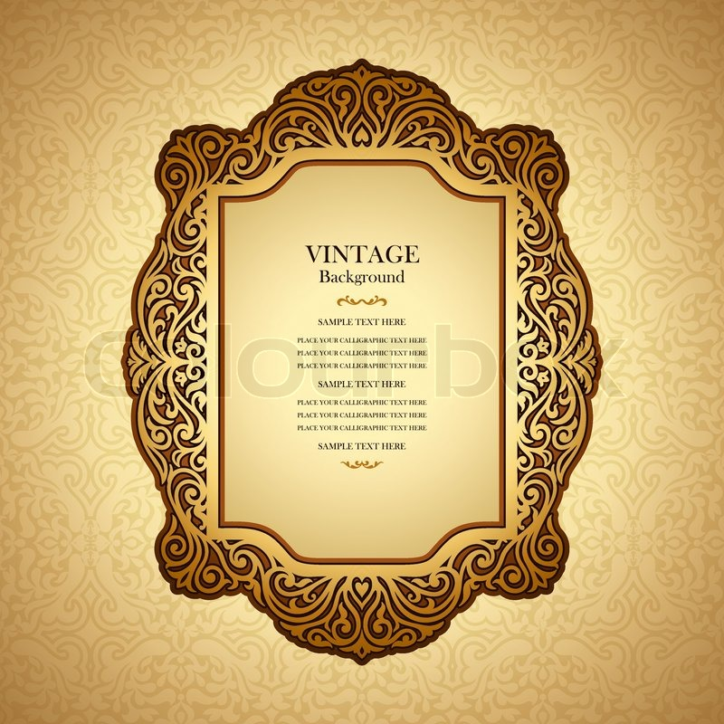 Vintage Book Cover Design Template Free : Vintage background design elegant book cover victorian