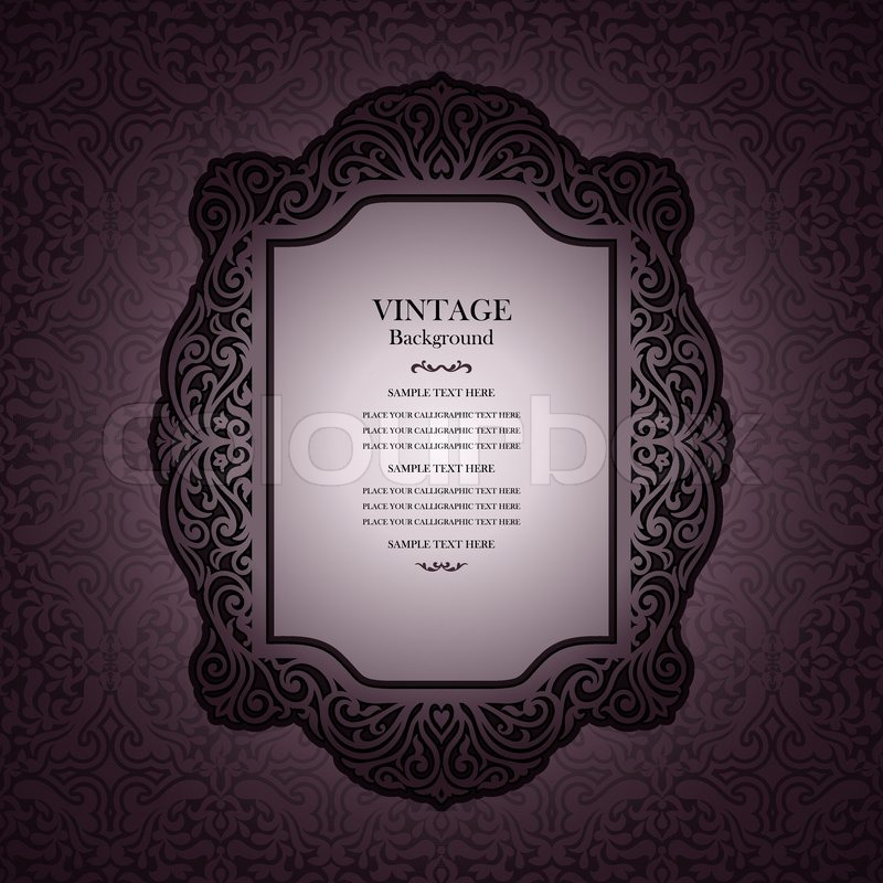 Beautiful Book Cover Template : Vintage background design elegant book cover victorian