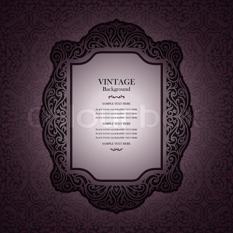 vintage background design  elegant book cover  victorian