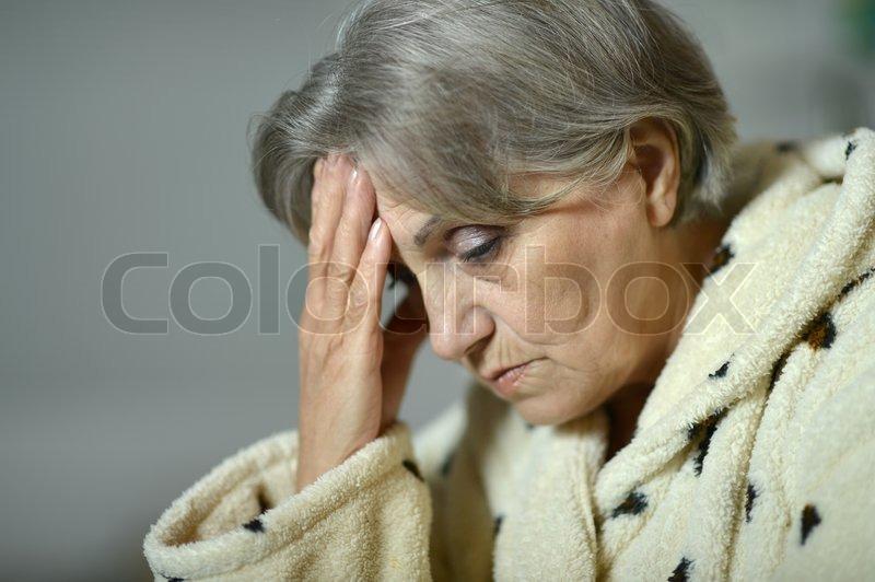 Portrait of an elderly woman, stock photo
