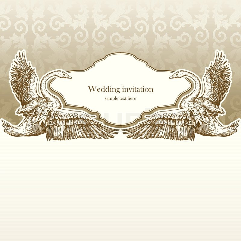 Vintage Wedding Invitation Card Stock Vector Colourbox