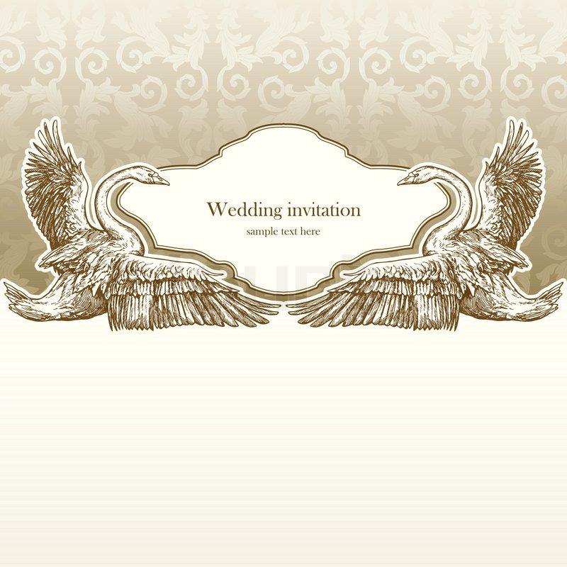 Vintage wedding invitation card antique background luxury greeting stock vector of vintage wedding invitation card antique background luxury greeting card stopboris Choice Image
