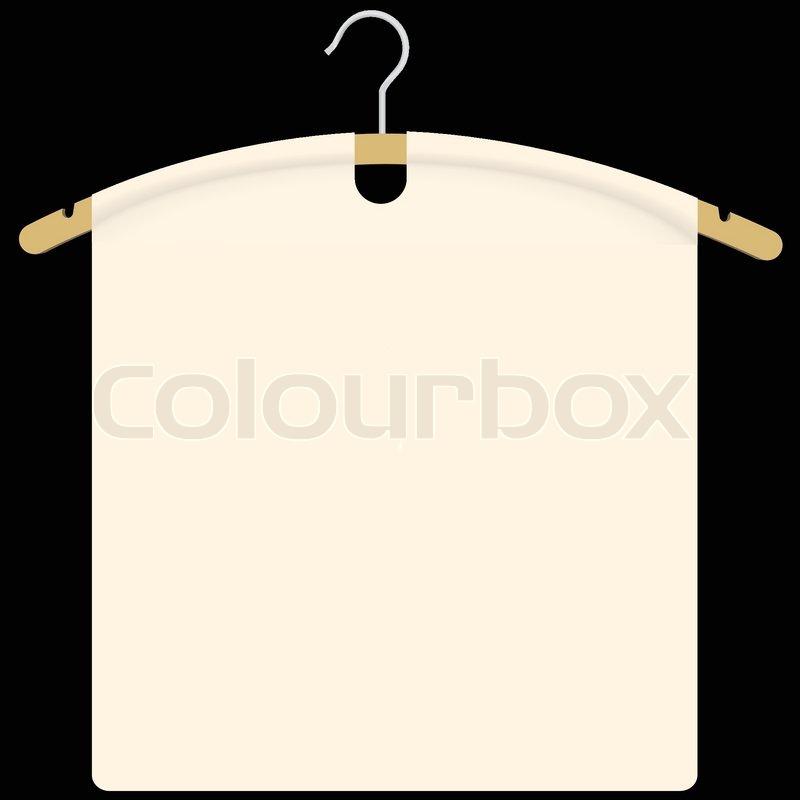 Stoff Auf Kleidungsstuck Kleiderbugel Vektorgrafik Colourbox