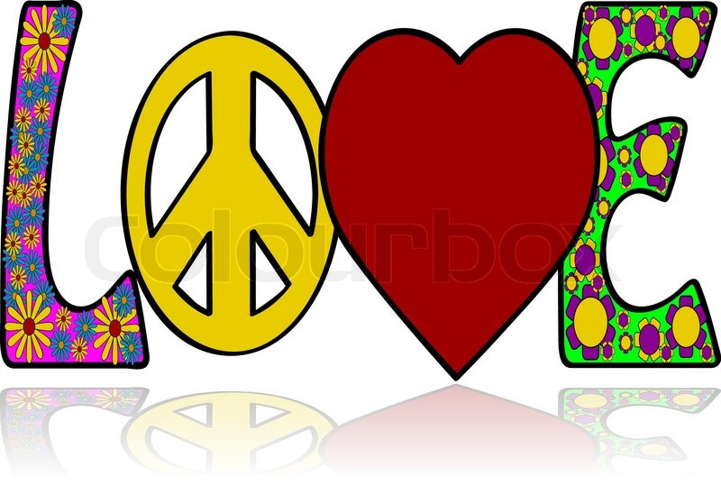 Concept Illustration Showing The Word Love With Graphic Elements