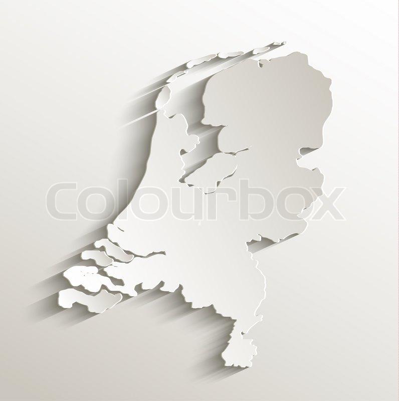 Niederlande Karte Umriss.Niederlande Karte Karte Papier 3d Stock Bild Colourbox