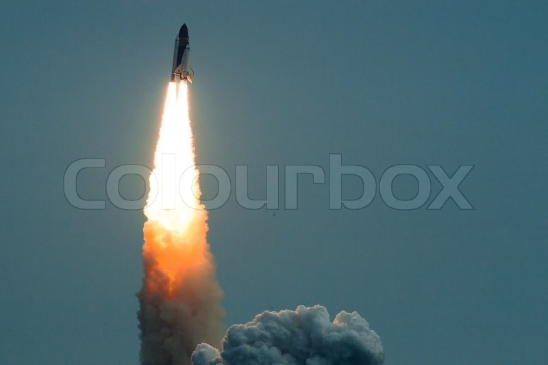 Launch of Endeavour STS-134 in Cape Canaveral, Florida, stock photo