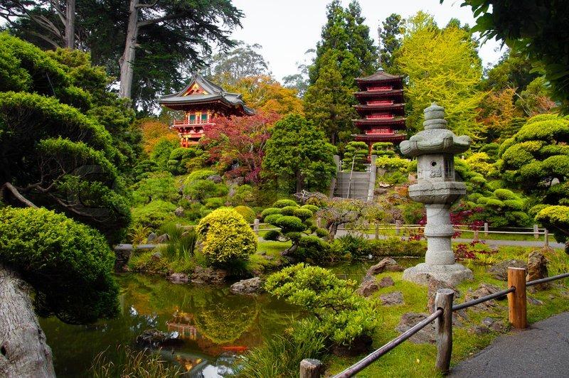 Pagodas In Japanese Tea Garden San Francisco California