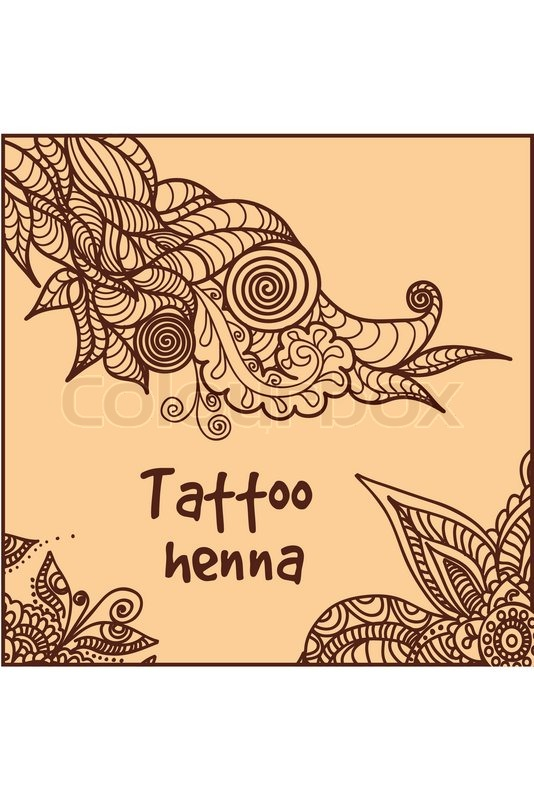 illustration of abstract pattern of a tattoo henna stock vector colourbox. Black Bedroom Furniture Sets. Home Design Ideas