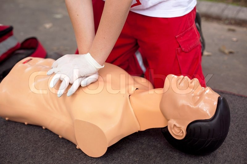 First aid, stock photo
