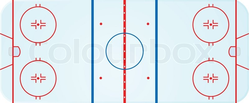Illustration Of An Overhead View Of An Ice Hockey Rink Stock