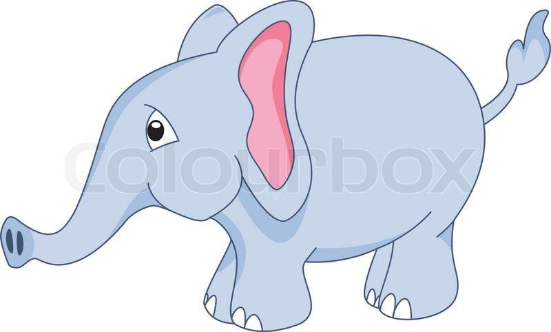 Baby Elefant Clipart Vektor Stock Vektor Colourbox