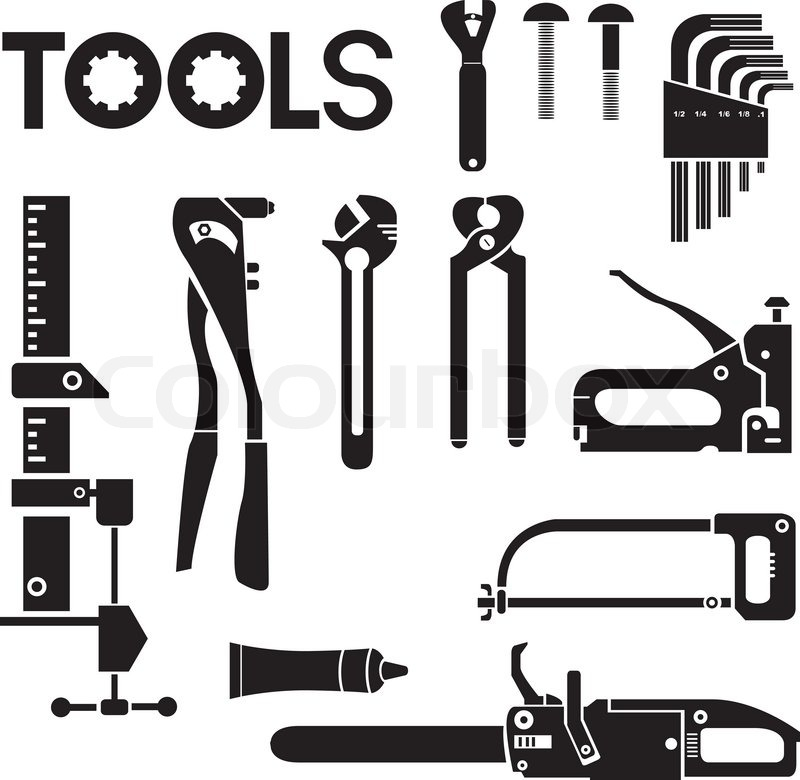 tools mechanical equipment icon set engineering tools stock