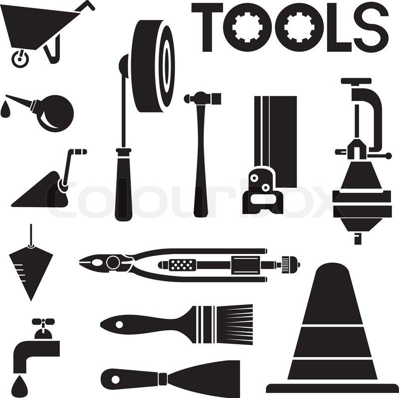 Mechanical Engineering Tools : Tools mechanical equipment icon set engineering