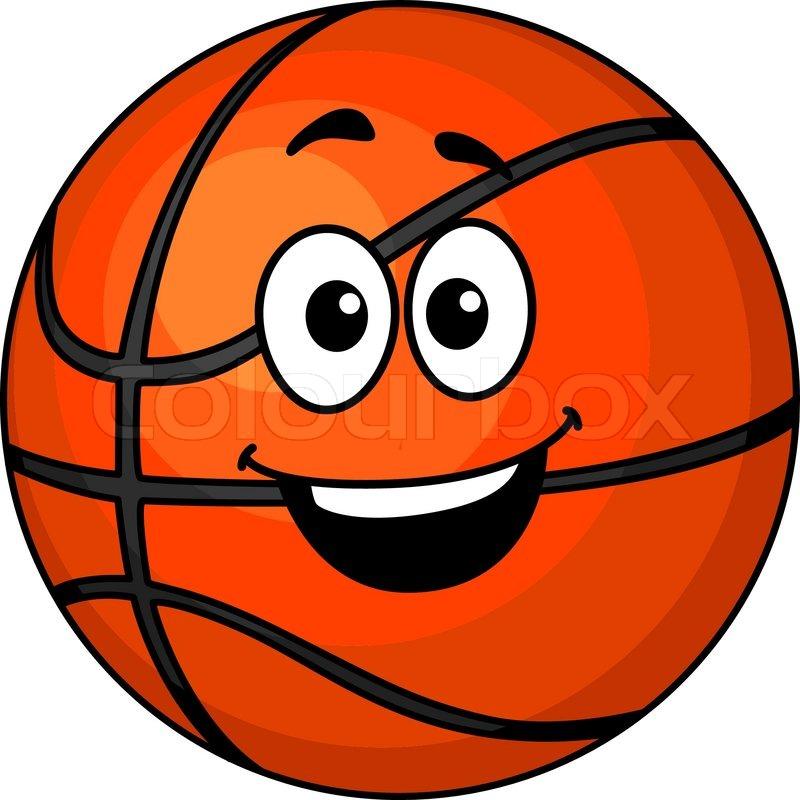 cartoon happy basketball ball with a big smile and googly Sad Eyes Clip Art Mean Eyes Clip Art
