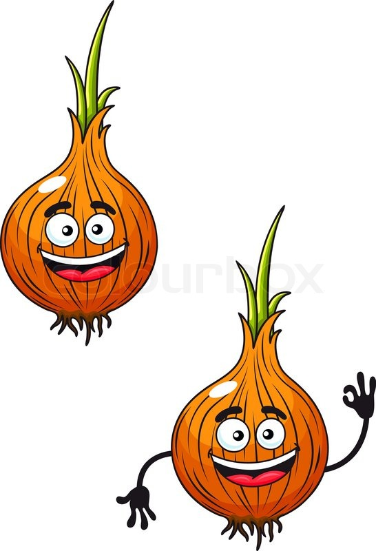 Cartoon vector illustration of two happy smiling fresh ...